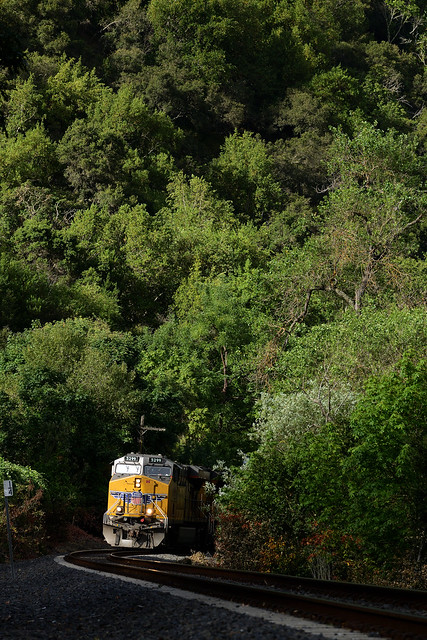 UP 5299 East in Niles Canyon, CA