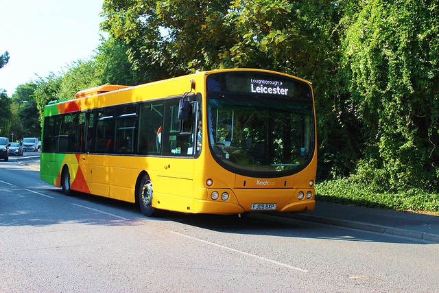 Trent 735 FJ09BXP on loan to Kinch Bus working the Skylink to Leicester passing Shardlow Road, Alvaston, Derby