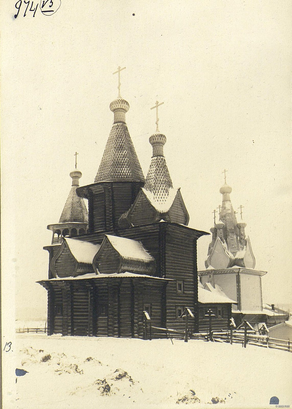 Церковь в селе Юрома начала XVIII века