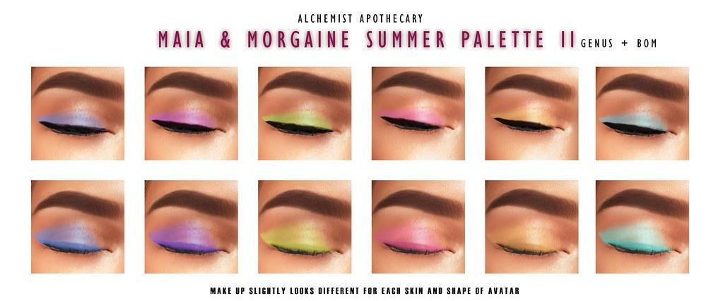 Maia & Morgaine Summer Palette