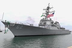 USS Fitzgerald (DDG 62) approaches the pier at Naval Base San Diego, July 2. (U.S. Navy/MC2 Alex Millar)