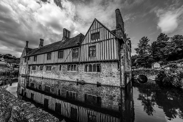 Medieval moated house Kent Ightham Mote 700 years old in 2020