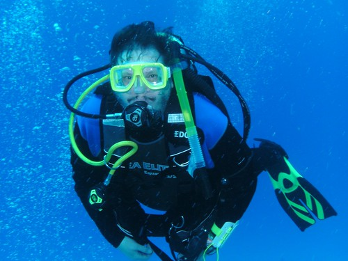 Eric scuba diving. From Eric Leif Peters: #CommunityCollegeBecause ... learning is what everybody will be doing in the 21st Century