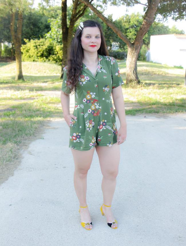 Comment porter la combishort vert kaki quand on est de taille moyenne ?