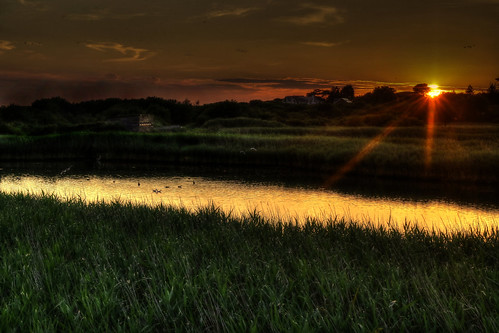 landscape sunset nighttime hdr photomatix titchfieldhaven meon shore hillhead stubbington hampshire uk canon eos7dmkii efs50mmisstm sundaylights rivermeon