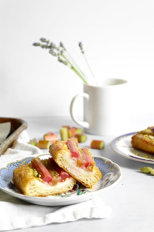 rhubarb lavender cardamom danish