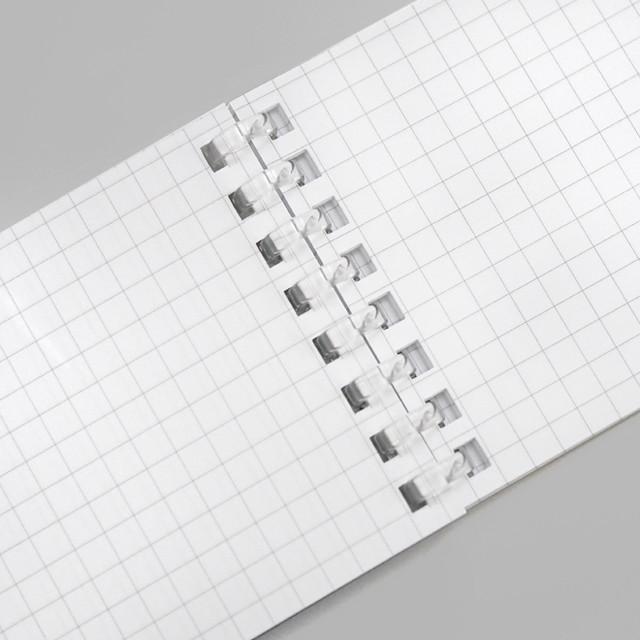 リヒトラブ 片手で開く ツイストメモ N-1761 ツイストノート メモサイズ 違い 比較
