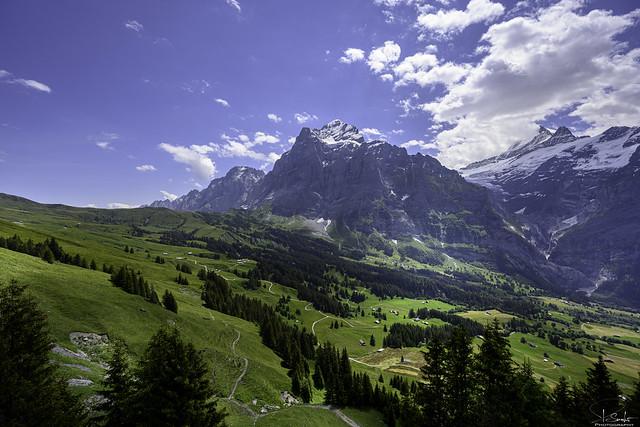 Mountain view to Wetterhorn - Grindelwald - Bern - Switzerland