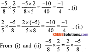 KSEEB Solutions for Class 8 Maths Chapter 7 Rational Numbers Additional Questions 16