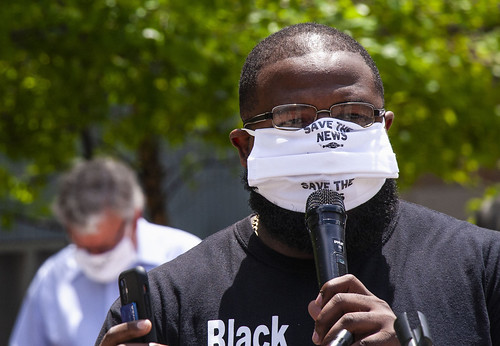 Brandon Pope WCIU TV Chicago Journalists Save the News Rally Chicago Illinois 6-27-20_7085 | by www.cemillerphotography.com