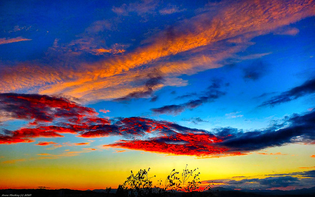 Scotland West Highlands Argyll the evening sky on 30 June 2020 by Anne MacKay
