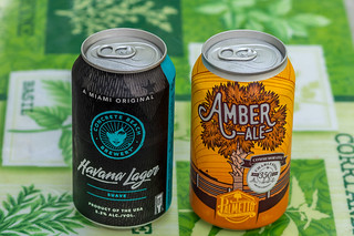 Concrete Beach Brewery's Havana Lager and Palmetto's Amber Ale