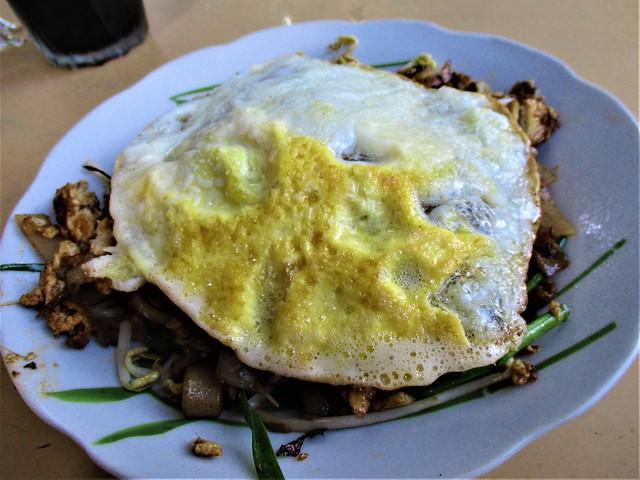 Kopitiam Fantasy sambal kway teow plus fried egg