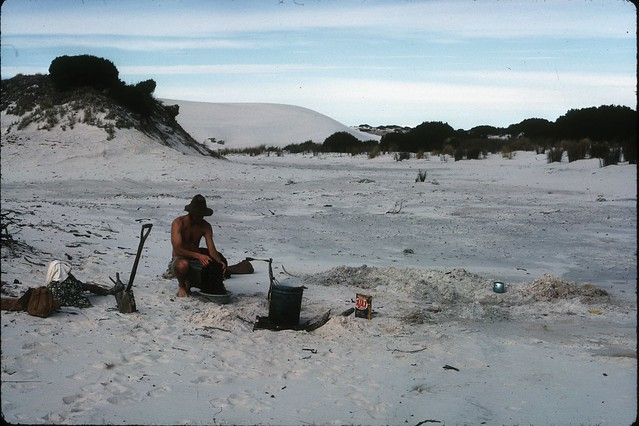 B2R22-37 Israelite Bay washing clothes from a well I dug in the sand in the lee of the dunes
