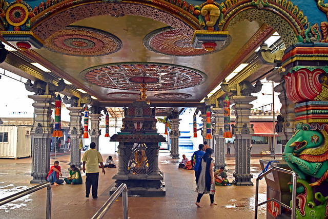 Inside Hindu Temple, Little India, Singapore
