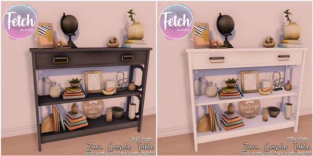 [Fetch] Zara Console Tables @ Fifty Linden Friday!
