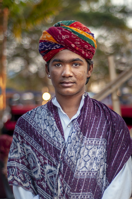 The Man with a Colorful Turban