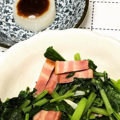 大根と小松菜はこうしてこうじゃ!カブは味噌汁にした。