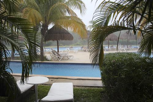 Rainy day at the resort, Valentin Imperial Riviera Maya, Mexico