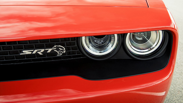 2020 Dodge Challenger SRT Super Stock: Standard illuminated Air Catcher headlamps feed additional air directly into the engine bay.