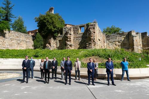 Encuentro sobre despoblación con los presidentes de Castilla y León y Aragón