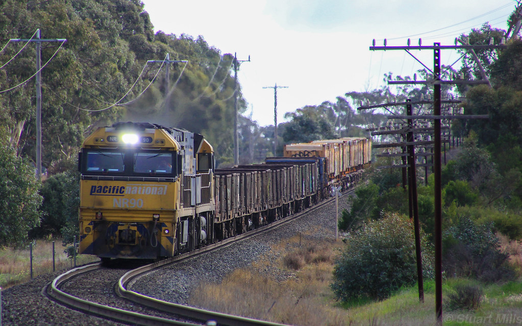 NR90 and NR110 run a shortish PM4 steel service just East of Dimboola by bukk05