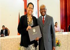 Mozambique President's Certificate of Merit 2014 Tania Tome Bilionaria