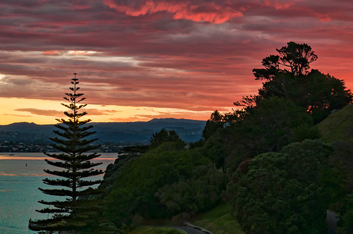 d90 newzealand silhouette tauranga duskfromtwintowers balconyview viewfrombalcony 1685vr mauao mountmaunganui fantasticnature