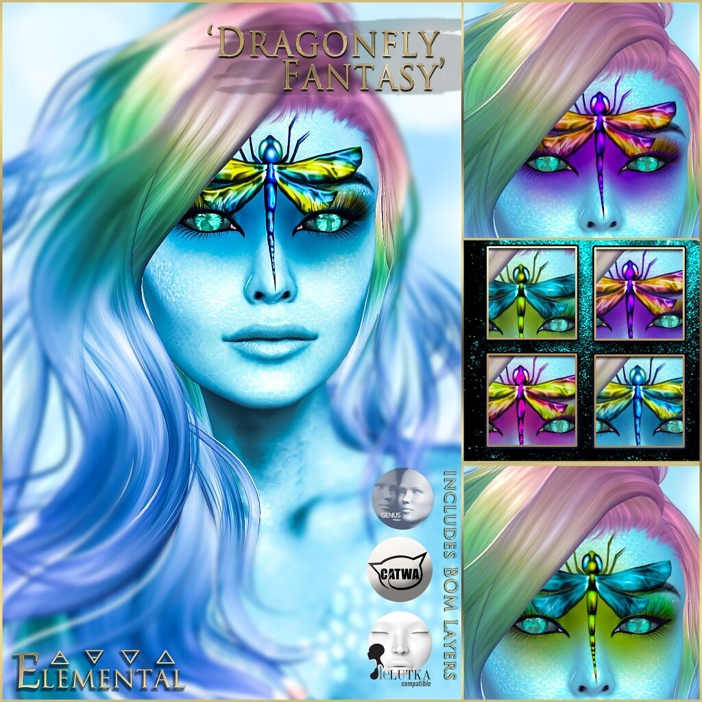 - ELEMENTAL - 'Dragonfly Fantasy' Makeup with BOM Advert_Resized