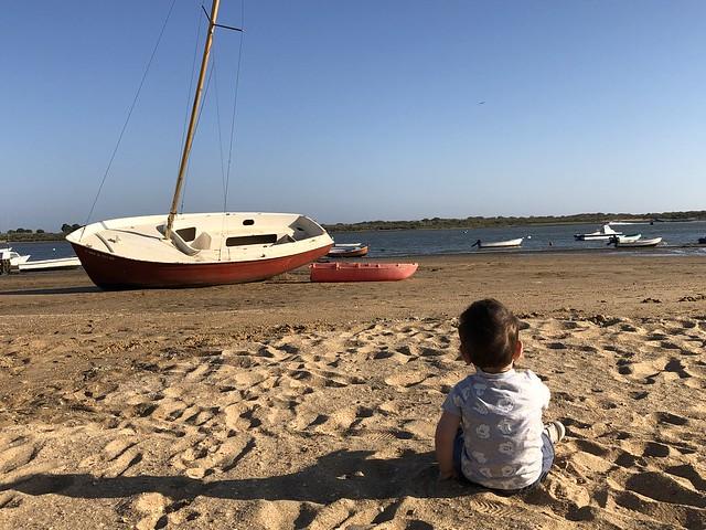 Unai en la playa de El Rompido (Huelva)
