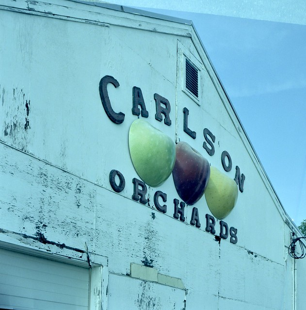 harvard massachusetts carlson's orchards sign lubitel 166