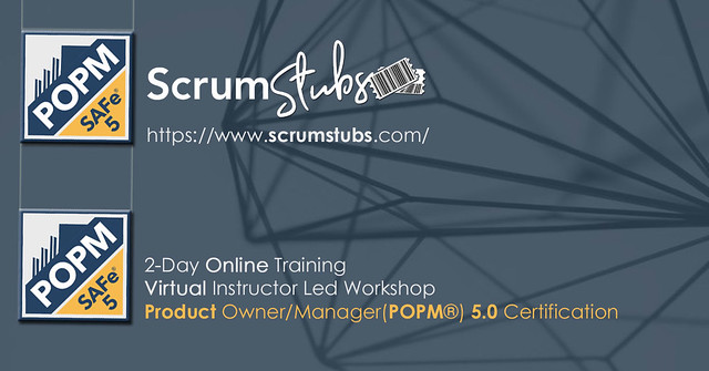 Product Owner | Product Manager | POPM | Virtual Instructor Led Workshop | Professional Trainers | Scrum Stubs
