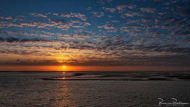 Haringvliet cloudy sunset