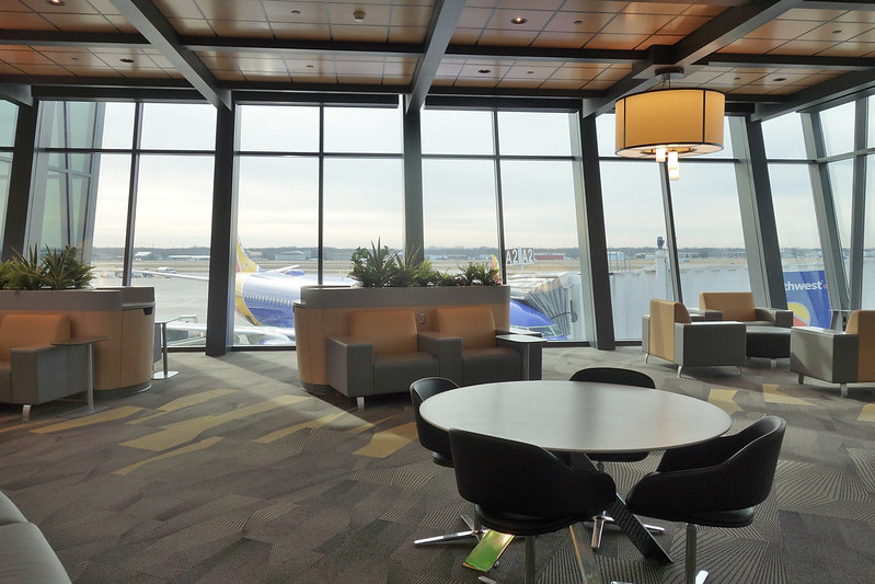 ROC Greater Rochester International Airport west atrium seating expansion 2020 3-11