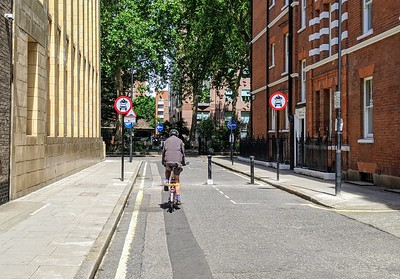 Dane Street point closure looking towards Red Lion Square