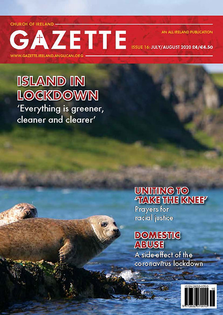 The front cover of July's Church of Ireland Gazette, from Rathlin Island.