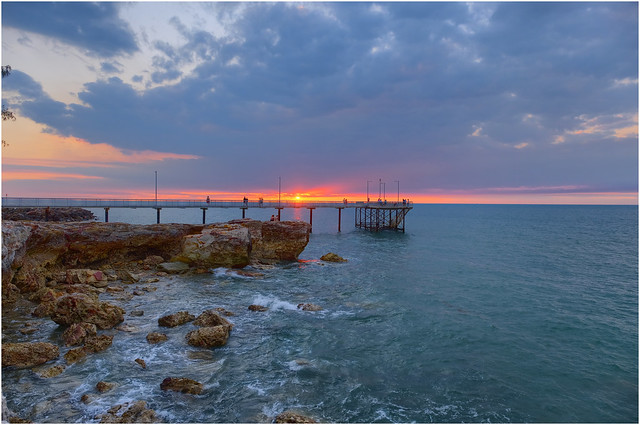 Nightcliff Jetty sunset - Darwin Harbour, NT, Australia