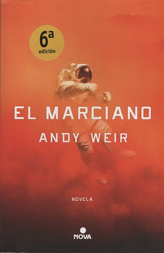 Portada del libro. El Marciano - Marte
