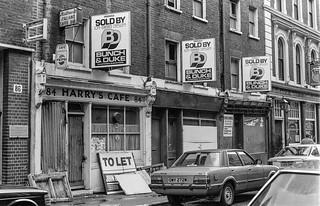 Shops, Tabernacle St, Old St, Islington, Hackney, 1987 87-3h-24-positive_2400 87-3h-24-positive_2400