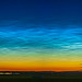 Noctilucent Clouds Panorama from Home (July 2, 2020)