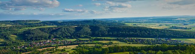 Panorama-         Loffeld-Horsdorf vom Staffelberg aus