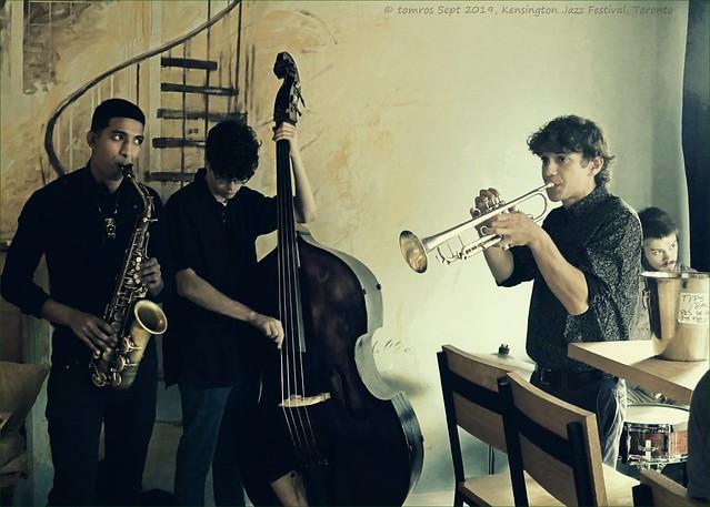 Unknown Student Band. Fresco's, Kensington Jazz, September 2019.