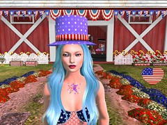 4th July Giftset including hat, 2 tattoos and makeup
