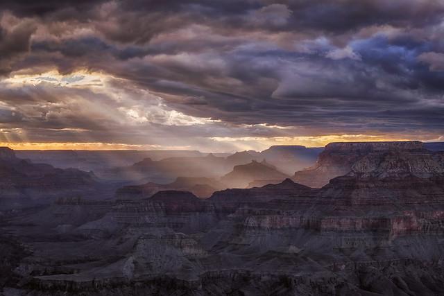 Sunset at Navajo Point, South Rim Grand Canyon, Arizona