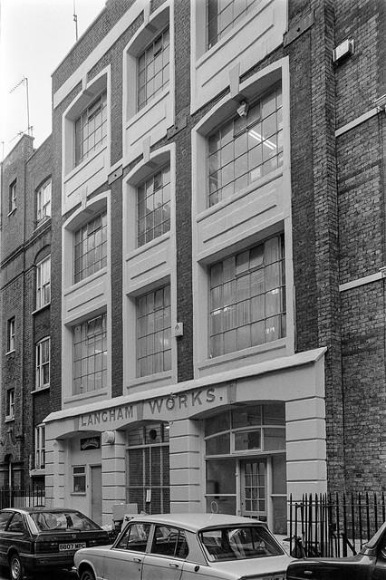 Langham Works, Great Portland St, Westminster, 1987 87-3a-63-positive_2400