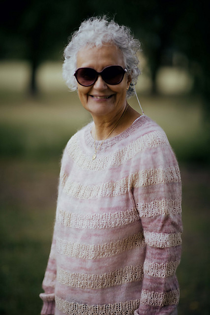 Virginia - Joji Locatelli's mother knit her Susurrus with the same yarn as Joji and the yarn from the pattern! It looks fabulous on her!