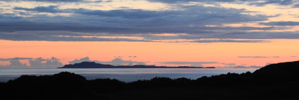 Suset over the Western Isles, Scotland.