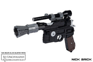 Han Solo's DL-44 Blaster Pistol - A New Hope | by Nick Brick