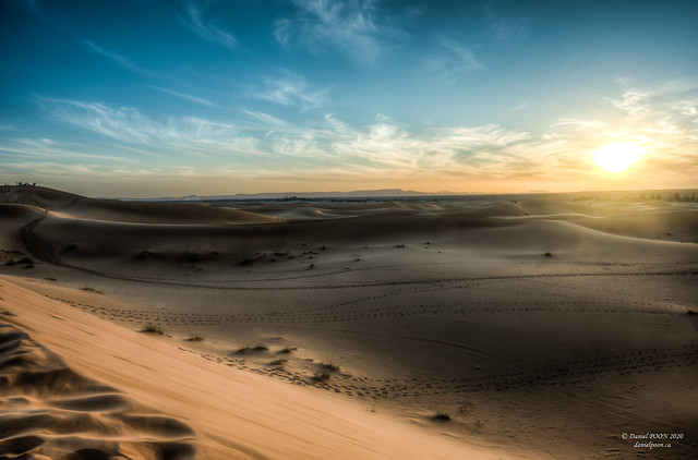 Sunset at Sahara Desert, Morocco