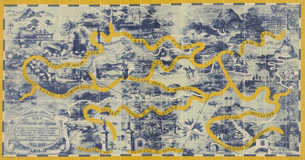 Mapa da Floresta da Tijuca, Rio de Janeiro (RJ), década de 1940